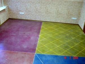 фото вариантов устройства декоративного бетона от ГК Корион