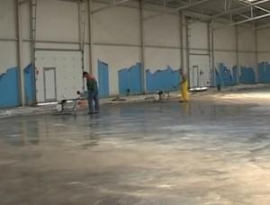 промышленный бетонный пол фото